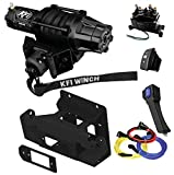KFI Combo Kit - SE45-R2 4500lbs Stealth Winch, 101520 Mount Bracket, Wiring, Switches, Remote - Can-Am Maverick X3 & X3 Max