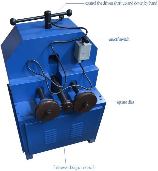 TECHTONGDA 110V 1500W Electric Tube Pipe Bender Roller Round-5//8-3 Square-5//8-2 1400 RPM