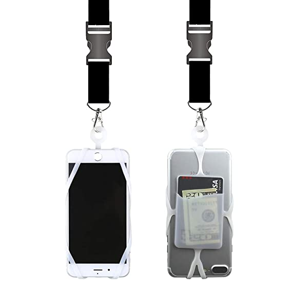 brand new ad260 513a3 Gear Beast Universal Cell Phone Lanyard Compatible with iPhone, Galaxy &  Most Smartphones Includes Phone Case Holder with Card Pocket,Soft Neck  Strap ...