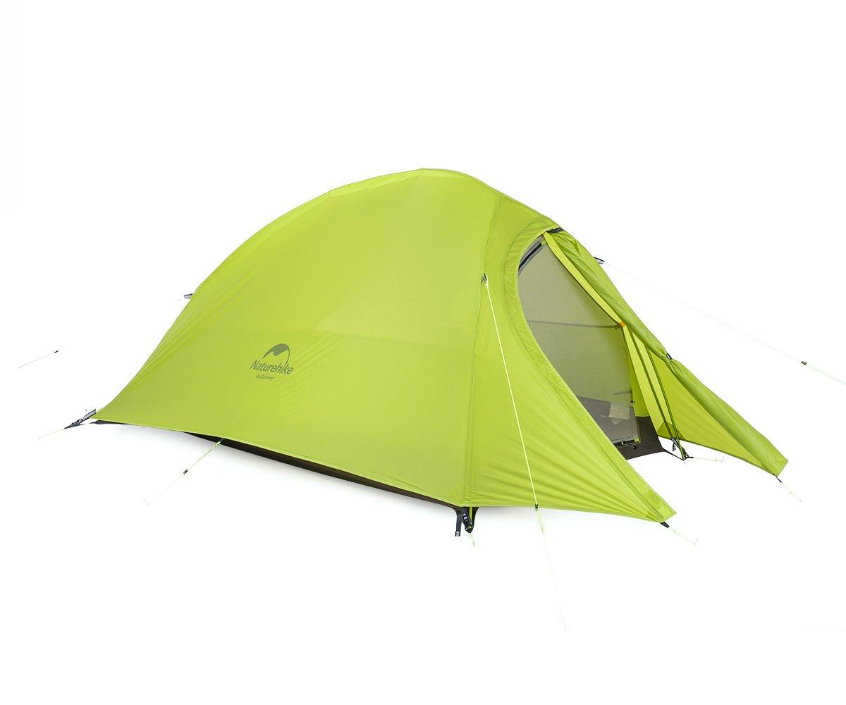 Naturehike Cloud-up Tenda da campeggio 2 Persona Tenda da trekking ultraleggera impermeabile (20D Verde claro)