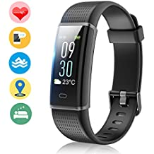 Vigorun Fitness Tracker Color Screen, Activity Tracker with Heart Rate Monitor, IP68 Waterproof Sports Smart Wristband with Step Counter Calorie Pedometer Sleep Monitor Watch for Kids Women and Men