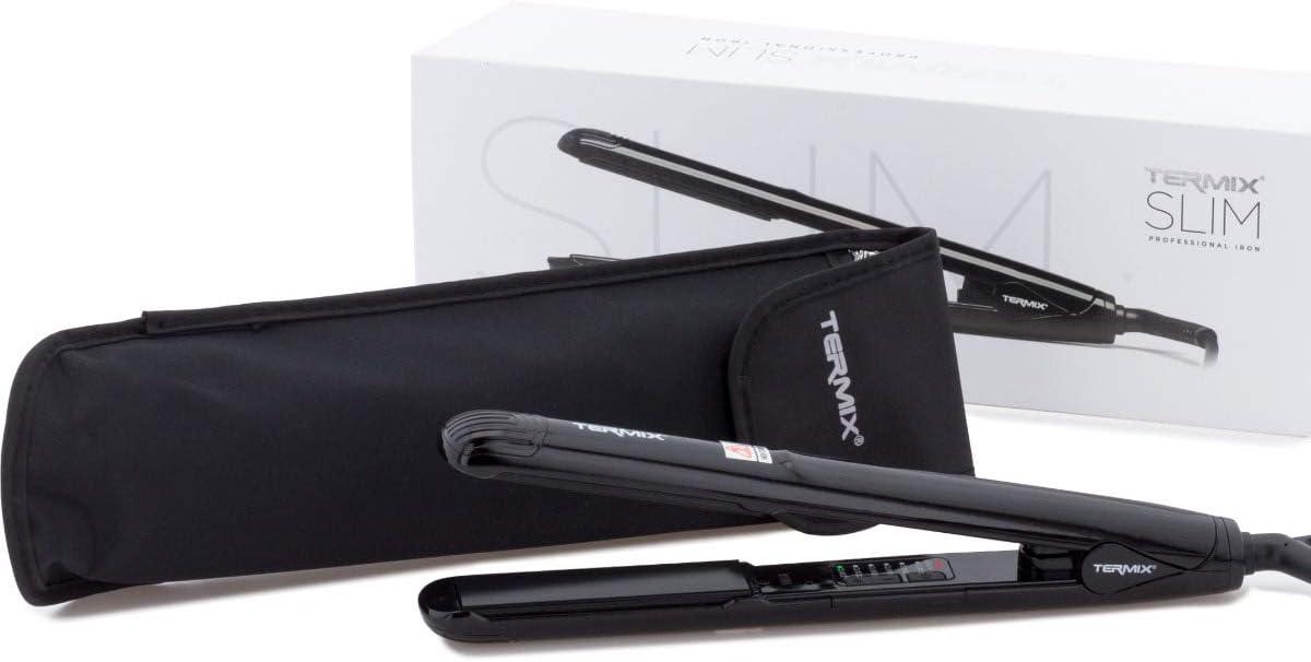 Termix Slim- Plancha de pelo con Nano Titanio, que ayuda a generar iones negativos beneficiosos para el cabello.