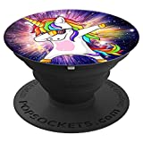 Phenomenal Space Background Pop-Socket With Dabbing Unicorn - PopSockets Grip and Stand for Phones and Tablets