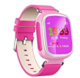 (US) KOBWA Q80 Premium Colorful Smart Watch Multifunction Anti Lost Wear Phone Fashion Watch for Talented Children Healthy Material Waterproof Popular Phone Wristwatch (Pink)