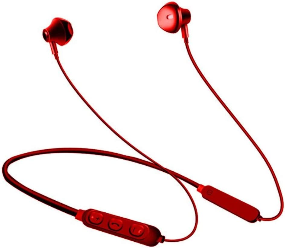 LightningSPT Bluetooth Headphones Wireless Earbuds Bilateral Stereo Earphones Sports Headsets Bluetooth in-Ear Earphones Bluetooth 5.0 IPX7 Waterproof for iPhone Ipad Samsung Etc. (Red)