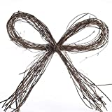 Package of 6 Primitive Natural Grapevine Bows for Decorating and Designing