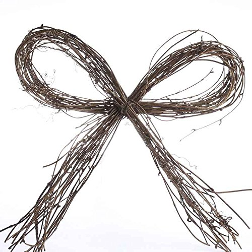 Primitive Grapevine (Package of 6 Primitive Natural Grapevine Bows for Decorating and)