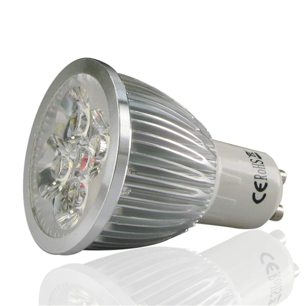 3W/4W GU10 LED Spotlight Bulbs High Brightness Spot Light Energy Saving Lamp(Size:Silver)