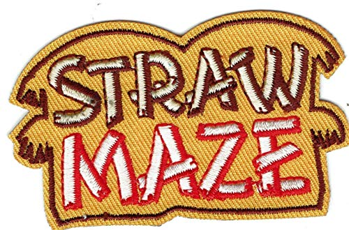 2Pcs Boy Girl Cub Straw Maze Tour Race Patches Crests Badge Guide Scout Stack hay
