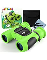 Binoculars for Kids, Water-resistant, Binoculars for Bird Watching with Strong Magnification. 8 x 21 Lightweight Compact Binoculars Telescope Gift Toy for Boys and Girls, Shock-proof Toys for kids.