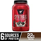 BSN SYNTHA-6 Whey Protein Powder, Micellar Casein, Milk Protein Isolate Powder, Cookies and Cream, 28 Servings (Package May Vary)