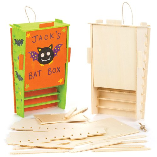 Baker Ross Wooden Bat Box Kits Creative Art Supplies for Children Crafts and Decorations (Pack of - Bat Kits House