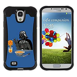 ZeTech Rugged Armor Protection Case Cover - Funny Darth Breakfast - Samsung Galaxy S4