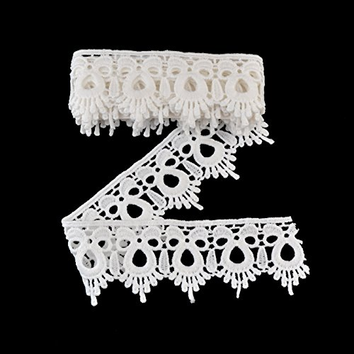 eZthings® Venise Edging Lace Trim From Eyelet Fabric For DIY Craft Venice Trims (3 Yard, Trim) ()