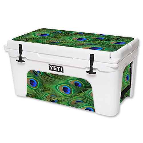 MightySkins-Protective-Vinyl-Skin-Decal-for-YETI-Tundra-65-qt-Cooler-wrap-cover-sticker-skins-Peacock