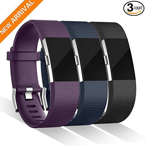 For Fitbit charge 2 Bands, Kasliny Accessory Replacement Bands for Fitbit Charge 2 HR Wristband (Small, Large, 3 Color), Special Edition Fitbit Charge 2 Band Sport Strap Bracelet for Women Men Gifts