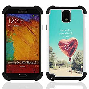 /Skull Market/ - Everthing to me For Samsung Galaxy Note3 N9000 N9008V N9009 - 3in1 h????brido prueba de choques de impacto resistente goma Combo pesada cubierta de la caja protec -