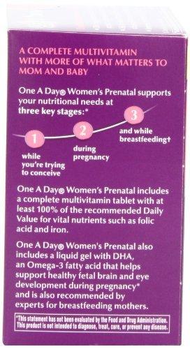 Uno vitaminas prenatales A Mujeres de Día, 30 + 30 Conde Tamaño: 60 unidades: Amazon.es: Bebé
