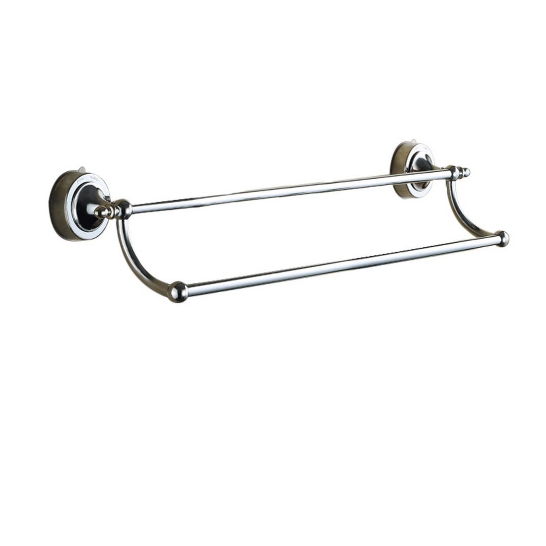 No drill bathroom accessories - Amazon Com Nibesser Suction Cup Double Towel Bar No Drill Contemporary Bathroom Accessory Clothes Organizer Shelf Rack Brushed Finish 26 Inch Home