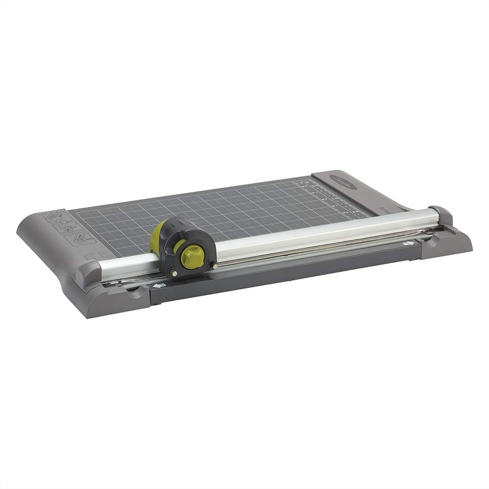 Swingline Paper Trimmer, Rotary Paper Cutter, 12'' Cut Length, 5-10 Sheets Capacity, Dial-A-Blade, SmartCut (9413B) by Swingline