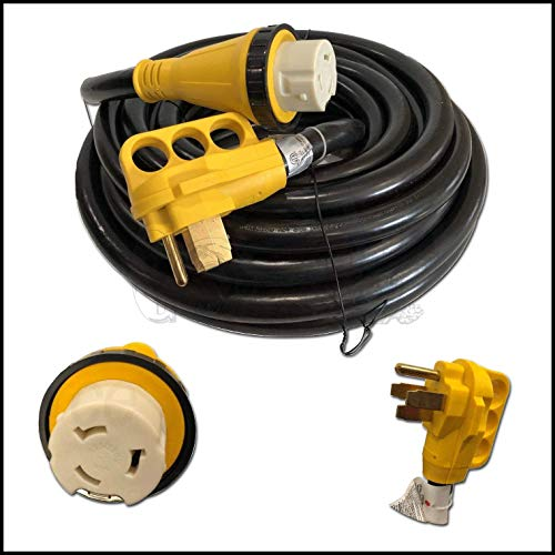EnergyPlug New 50 Foot 50A RV Extension Cord Adapter Shore Power NEMA 14-50P to SS2-50R
