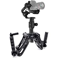 STARTRC Dual Handle Grip Handheld Handlebar Kit, Extension Stand Mount Holder 4th Axis Gimbal Stabilizer for DJI Ronin S OSMO Pro,Crane Plus Gimbal ZHIYUN/FEIYU 3 Axis Gyro Gimbal
