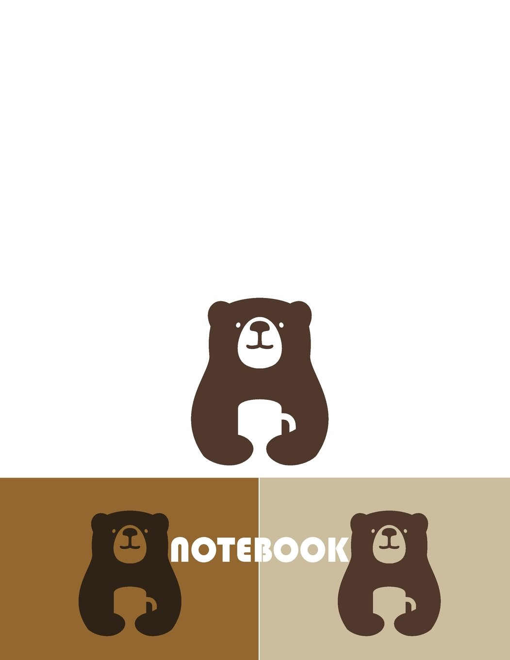 Download Notebook: Three bears are carry coffee cups on white cover and Dot Graph Line Sketch Blank pages, Extra large (8.5 x 11) inches, 120 pages, White paper, Sketch, Draw and Paint pdf epub