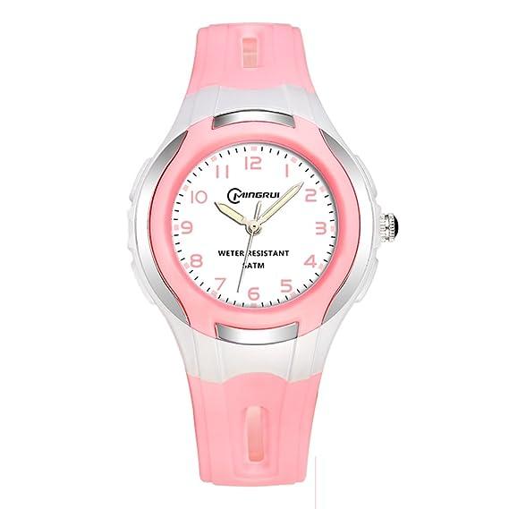 Niño Reloj de cuarzo Encantador Impermeable Natación Luminoso Relojes digitales Niña-F: Amazon.es: Relojes