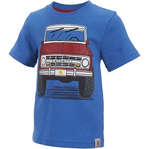 (Carhartt Boys' Performance Logo Tee,Blue Tractor,9M)