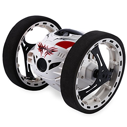 2 4G Remote Control Jumping Car  2 Second Rotation Bounce Rc Vehicle Toy  White
