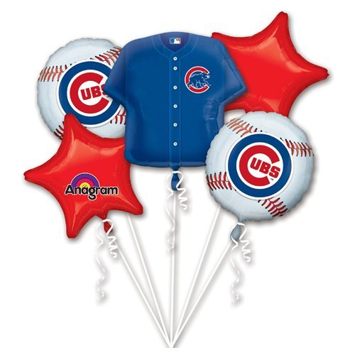 Anagram 32040 Chicago Cubs Balloon Bouquet Multicolored ()