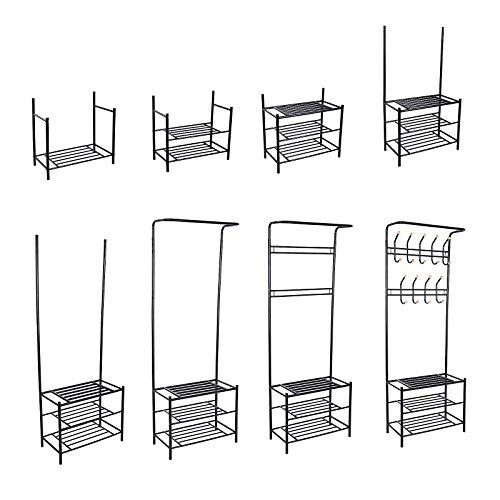 songmics h he 187 cm garderobenst nder kleiderst nder. Black Bedroom Furniture Sets. Home Design Ideas