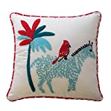 Waverly Kids Reverie Zebra Decorative Accessory Pillow, 15'' x 15'' - (Original from manufacturer - Bulk Discount available)