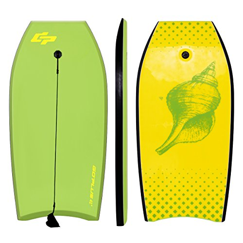 Goplus 41 inch Super Bodyboard EPS Core, IXPE Deck, HDPE Slick Bottom, Light Weight Perfect Surfing (Yellow Green)
