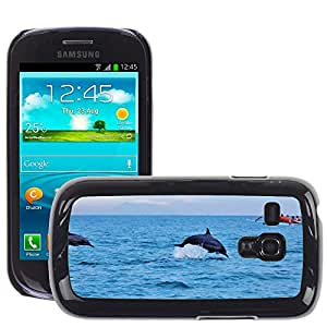 Super Stella Slim PC Hard Case Cover Skin Armor Shell Protection // M00148051 Dolphins Ocean Water Jumping // Samsung Galaxy S3 MINI i8190