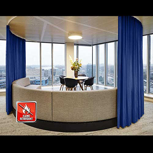 (TWOPAGES Pinch Pleated Curtain Fireproof Flame Retardant Thermal Insulated Curtain Drapery.(120