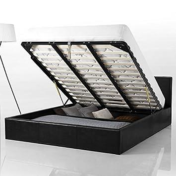 Confort Lit Coffre 160x200 Cm Smart Amazon Fr Cuisine Maison