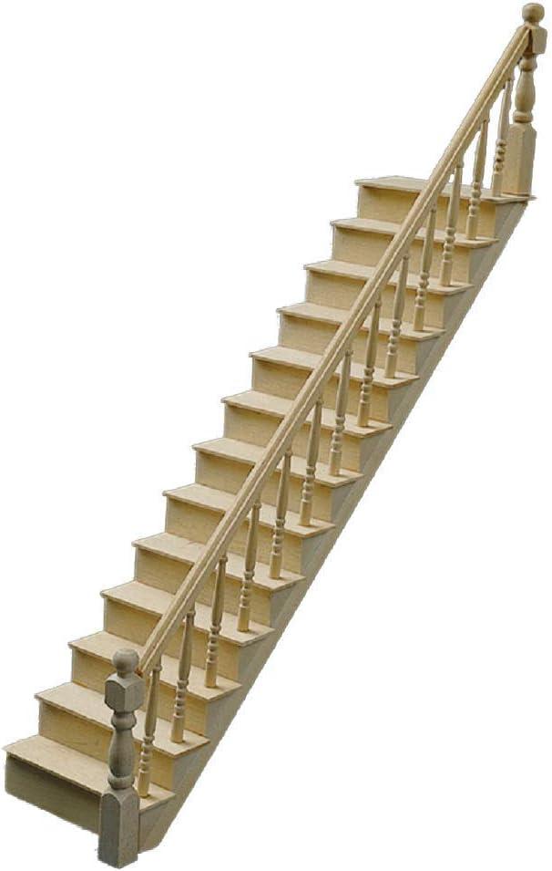 Amazon.es: Houseworks, Ltd. Nuevo Miniatura para Casa de Muñecas Bricolaje Clásico Kit Escalera 700: Juguetes y juegos