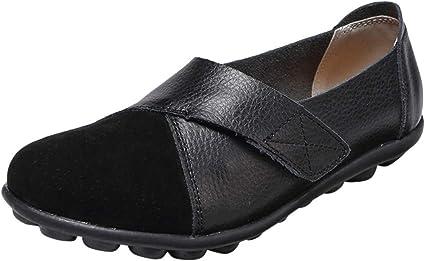 AG&T Zapatos de Mujer de Fondo Suave de Gran tamaño Casual Zapatos de Color sólido Mocasines centavos Zapatos Planos Casuales: Amazon.es: Deportes y aire libre