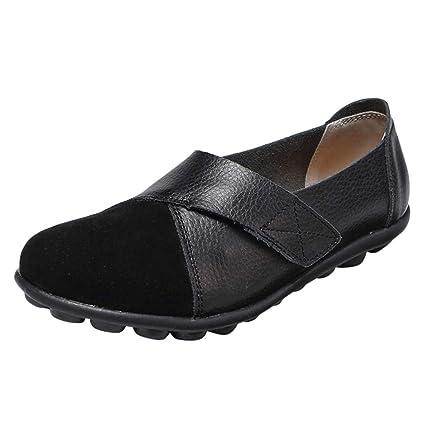 AG&T Zapatos de Mujer de Fondo Suave de Gran tamaño Casual Zapatos ...