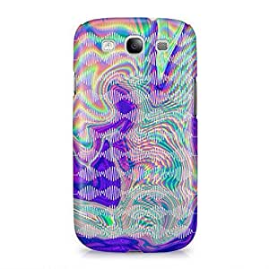 Arctic Monkeys Trippy Waves Logo Hard Plastic Snap-On Case Cover For Samsung Galaxy S3