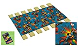 Custom Made in the U.S.A.! Youth/Toddler Size Superman Cotton Comic Book Hero Themed Bed Slats Bunky Boards - Cut to the Width of Your Choice (27'' Wide) - FREE box of Crayons with Purchase