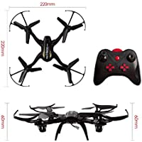 VIVINATURE Black Remote Posture Control 4 Channel 2.4GHz 6 Axis Gyro RC Quadcopter 360-Degree 3D Rolling Mode 2 RTF RC Drone(Black)