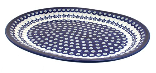 Polish Pottery Flowering Peacock Large Serving Platter