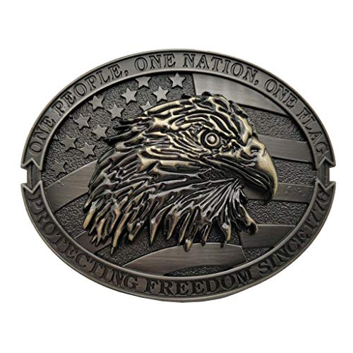Flag Eagle Belt Buckle - Patriotic American Eagle Belt Buckle USA Flag