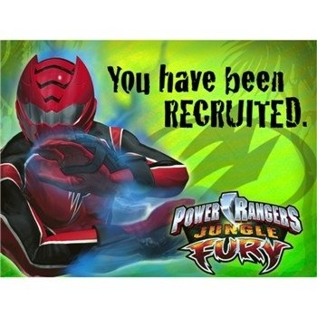 Amazon power rangers jungle fury invitations w envelopes power rangers jungle fury invitations w envelopes voltagebd Choice Image