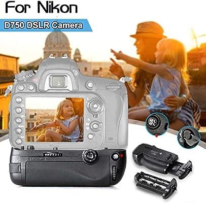 Soporte vertical de batería para cámara Nikon D750 DSLR, funciona ...