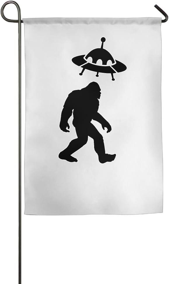 Alien Bigfoot UFO Garden Flag House Banner - 12 X 18 Inch|18 X 27 Inch