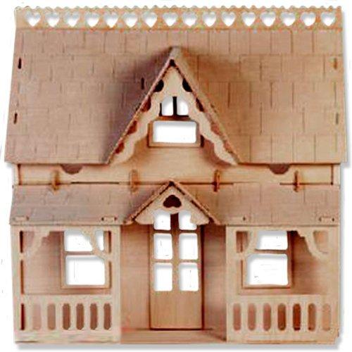 定番 3D - 木製パズル - ベランダの家 木製パズル - 小さなお子様への贈り物にピッタリ。 - 商品番号DCHI-WPZ-DH-003。 B004QDTJGI, ANIMAL-ROCK:98716c1b --- quiltersinfo.yarnslave.com