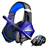 BENGOO Gaming Headset and Mouse, Stereo Gaming Headset for Xbox One, PS4, PC